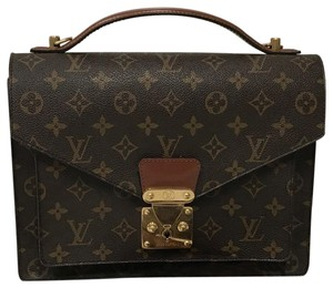 Louis Vuitton Monceau Gm Monogram Canvas Business Tote Shoulder Bag