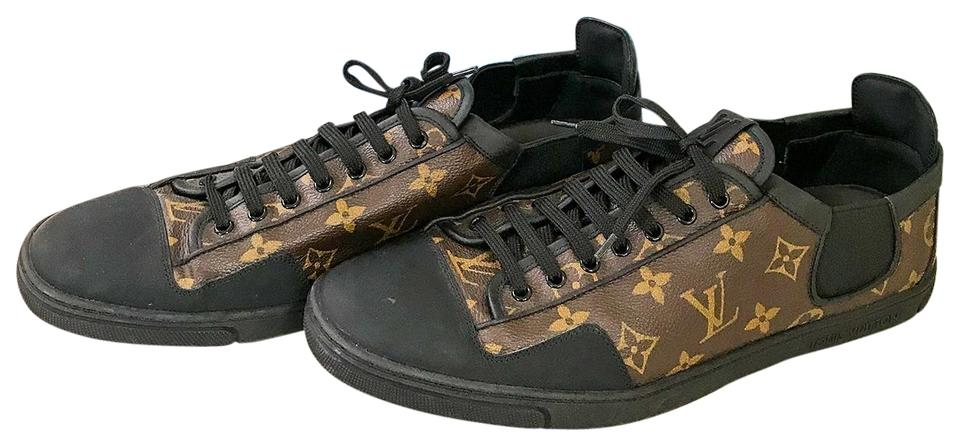 8a35465a75d Louis Vuitton Black Monogram Canvas Slalom Men Euc Sneakers Size US 11  Regular (M, B) 45% off retail