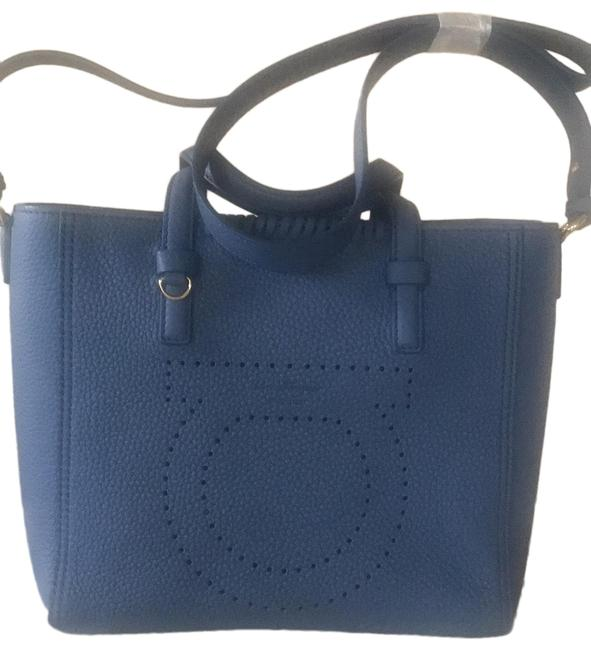 Item - Bag Small Blue Leather Tote