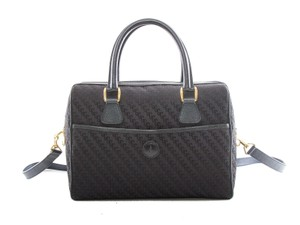 Gucci Made In Italy Satchel in Black/Navy