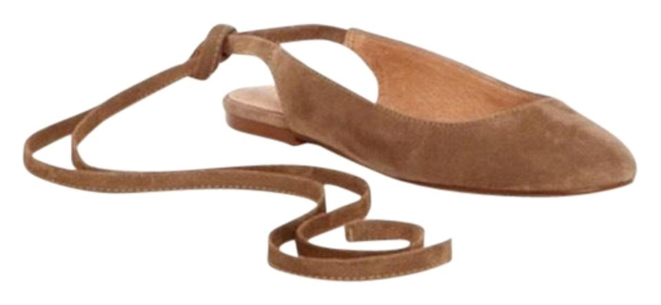 women Madewell color Tan April Flats The color Madewell is very noticeable b0d47d