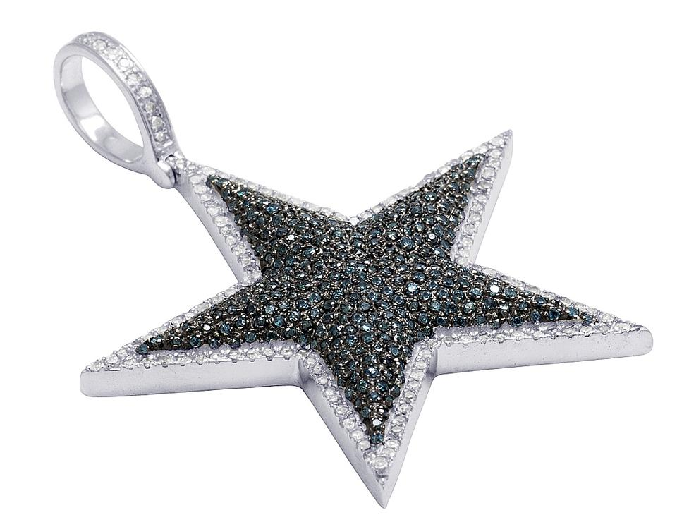 Jewelry unlimited 10k white gold blue diamond dallas cowboys star 123456 aloadofball