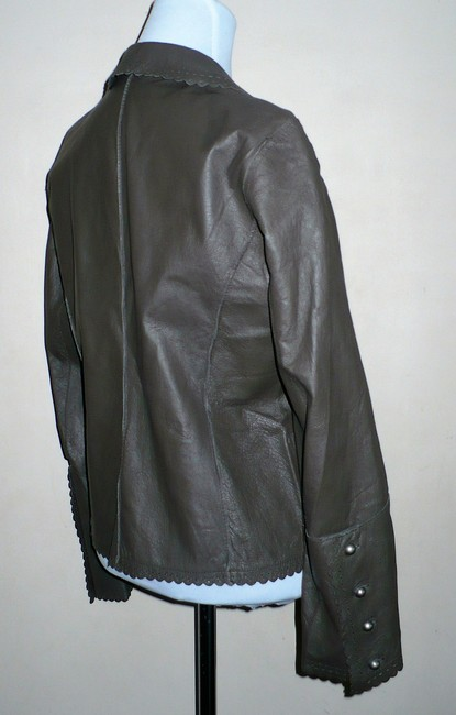 Spiegel Taupe Leather Jacket
