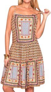 Lirome short dress Multicolor Sprng Summer Embroidered Floral Flowy on Tradesy