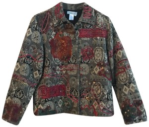 Coldwater Creek embroidered tapestry Blazer