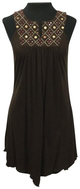 Item - Brown Or Tunic Short Casual Dress Size 12 (L)
