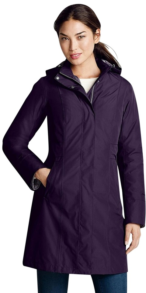 fce680e6e Eddie Bauer Deep Eggplant Girl On The Go Insulated Trench Coat Size Petite  8 (M) 50% off retail
