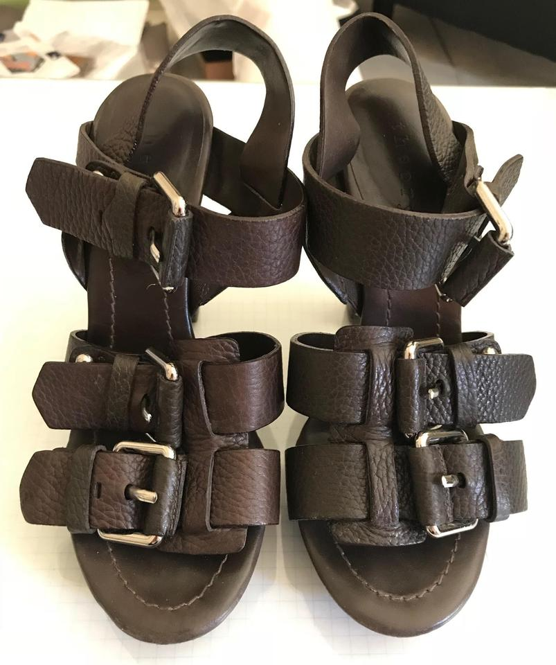 136b124f846c Theory Chocolate Brown Buckle Sandals Size EU 36 (Approx. US 6) Regular (M