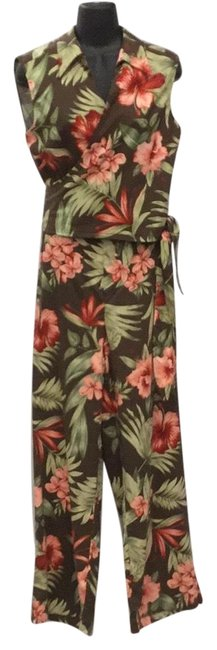 Preload https://img-static.tradesy.com/item/22792906/tommy-bahama-browncoral-silk-floral-pant-suit-size-16-xl-plus-0x-0-1-650-650.jpg