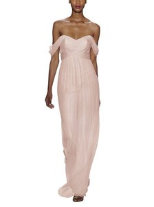 Amsale Blush Silk Chiffon G851c Formal Bridesmaid/Mob Dress Size 2 (XS)