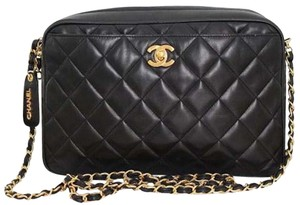 Chanel Vintage Camera Quilted Classic Flap Cross Body Bag