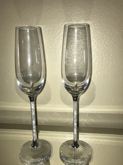 Item - Crystal Crystalline Toasting Flutes (Set Of 2)