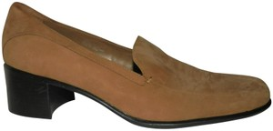 Aerosoles Loafers Beige Leather Suede Cushioned Camel Brown Flats