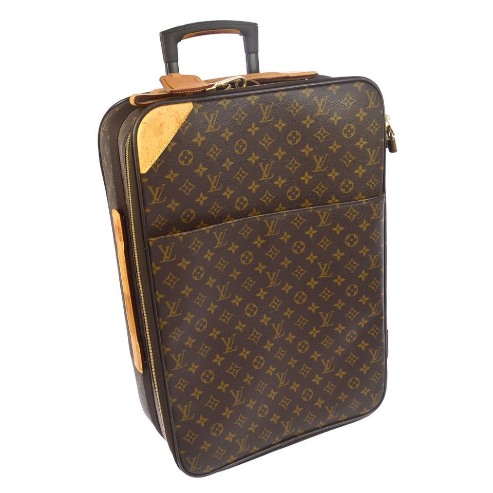 louis vuitton pegase leather weekend travel bag tradesy. Black Bedroom Furniture Sets. Home Design Ideas