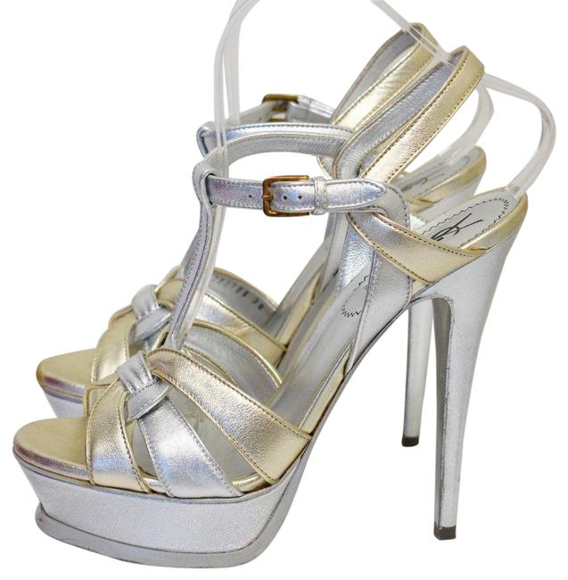 Item - Silver/Gold Yves Silver/Gold Leather Open 38m Nt Formal Shoes Size US 7.5 Regular (M, B)