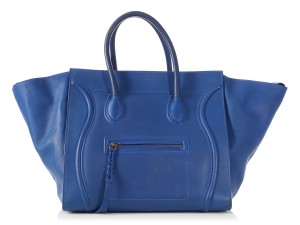 Céline Leather Ce.l1220.09 Tote in Large Royal Blue