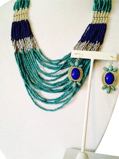 Preload https://item2.tradesy.com/images/shades-of-blue-2-piece-set-seed-bead-necklace-and-earrings-2279376-0-0.jpg?width=440&height=440