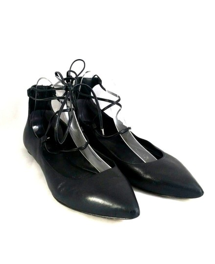 Belle by Sigerson Morrison Pointed Toe Ballet Leather Black Flats Image 1