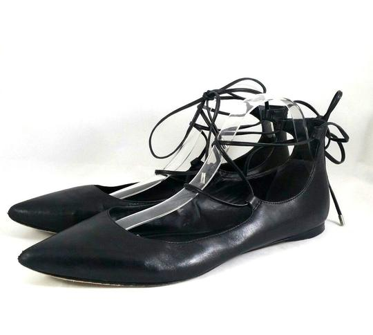Belle by Sigerson Morrison Pointed Toe Ballet Leather Black Flats Image 2