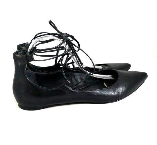 Belle by Sigerson Morrison Pointed Toe Ballet Leather Black Flats Image 4