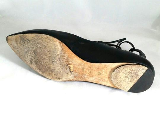 Belle by Sigerson Morrison Pointed Toe Ballet Leather Black Flats Image 5