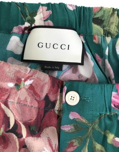 Gucci Trouser Pants green with pink fuchsia etc.....