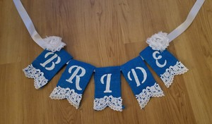 Blue and White Bride Chair Sign Other