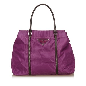 Prada 7lprto002 Tote in Purple