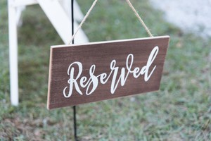 Reserved Signs Ceremony Decoration