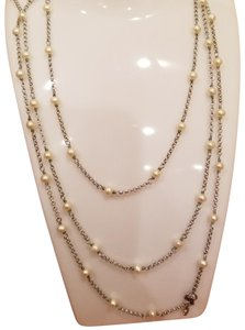David Yurman David Yurman Pearl Long Necklace 72 Silver