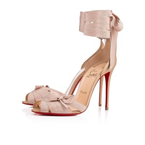 Christian Louboutin Christeriva Stiletto Lace Ankle Pigalle nude Pumps