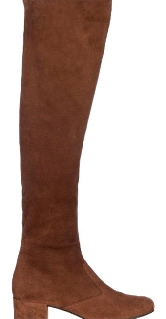 Item - Brown Over Knee Suede Boots/Booties Size US 6 Narrow (Aa, N)