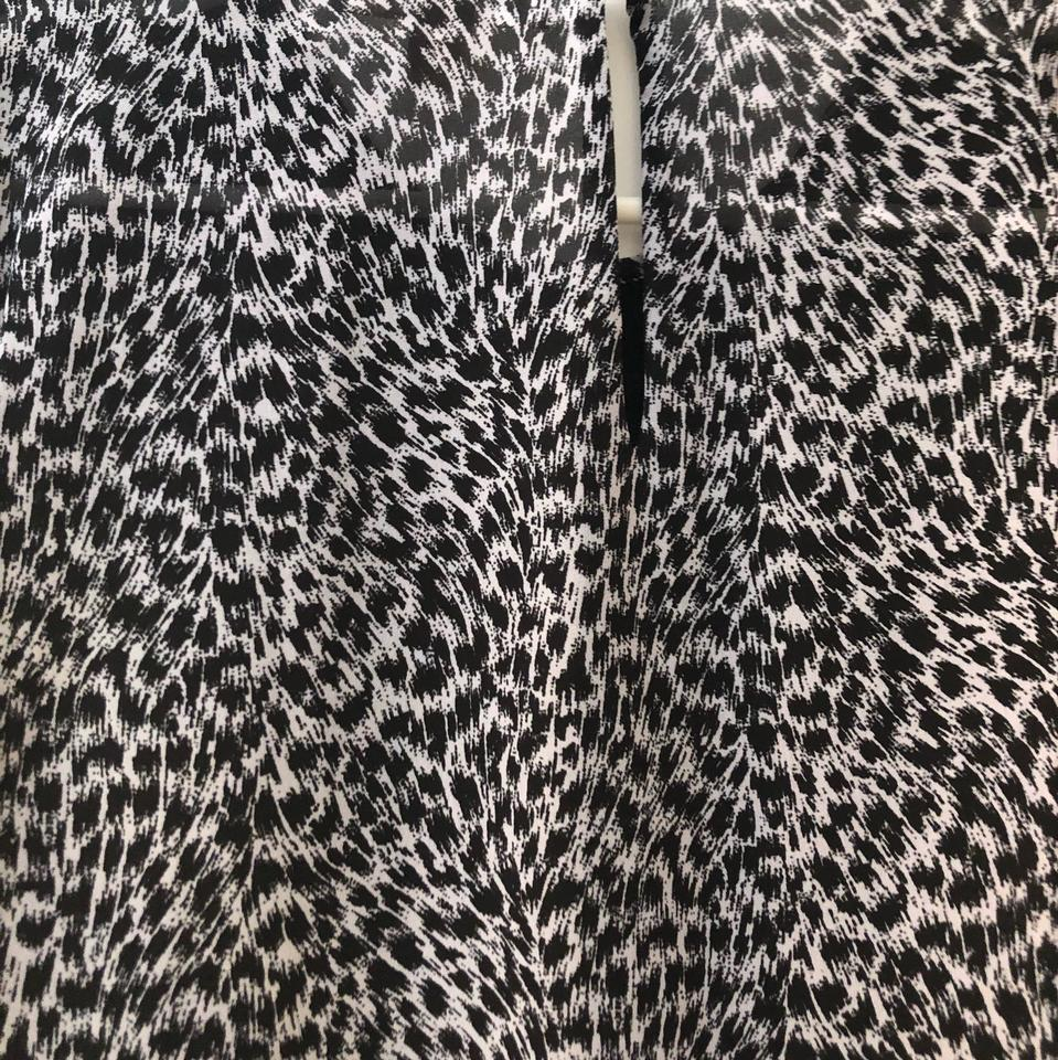 9c62d9134222 Michael Kors Black and White Cheetah Print Blouse Size 8 (M) - Tradesy