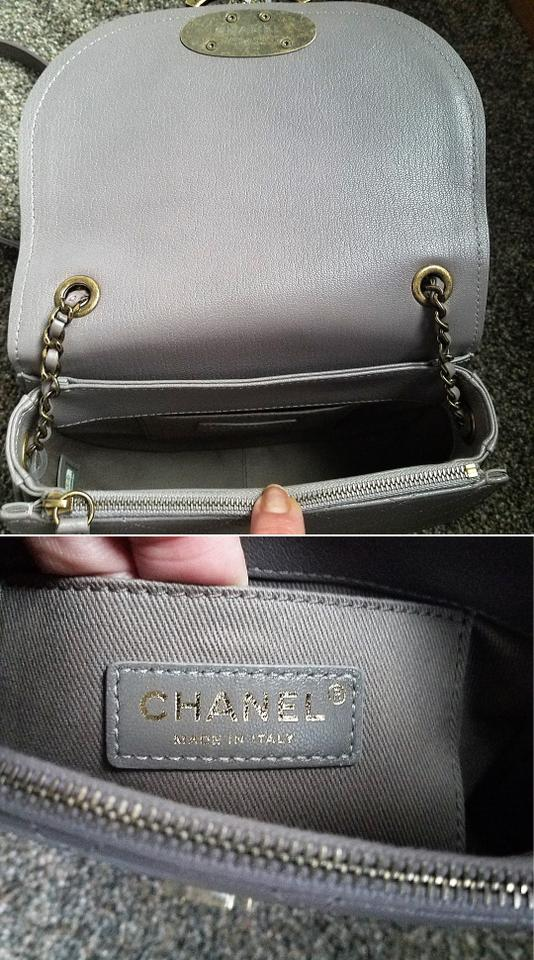 0dd096cc80bf62 Chanel Coco Curve Flap Top Handle Grey Calfskin & Goatskin Leather ...