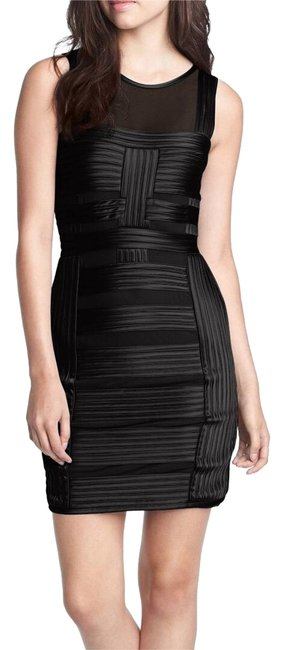 Preload https://img-static.tradesy.com/item/22794948/halston-black-stripe-charmeuse-body-con-mid-length-cocktail-dress-size-2-xs-0-1-650-650.jpg