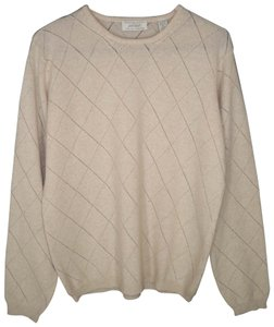 Lord & Taylor Cashmere Soft Pointelle Relaxed Sweater