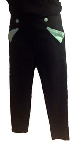 Collectif Capris black and light green
