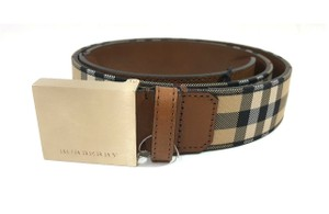Burberry Horseferry Checklucius 35MM Plaque Buckle Belt Size 36/90