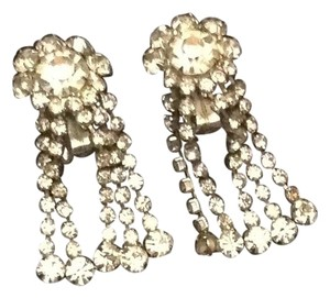 Albert Weiss Signed Weiss 1960's rhinestone vintage earrings