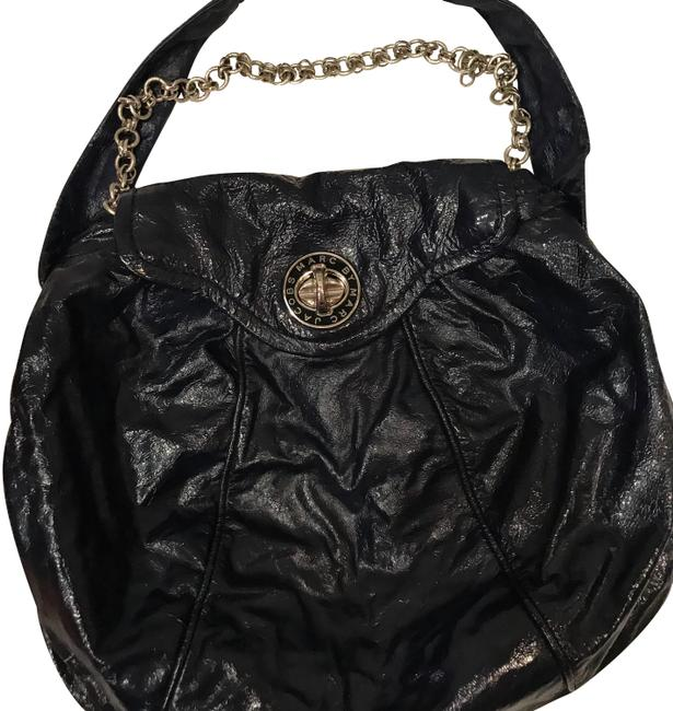 Item - Purse Navy Patent Leather Hobo Bag