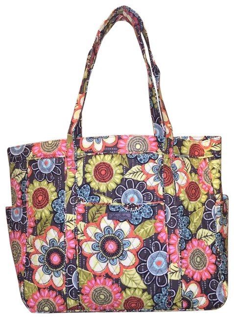 Item - Get Carried Away Flower Shower Multicolor Cotton Tote