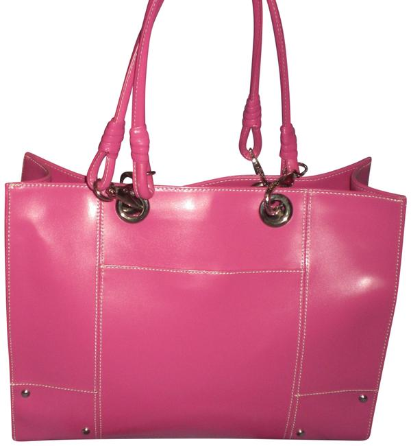 Item - XL Briefcase with Sleeve Hot Pink Leather Laptop Bag