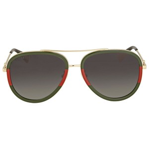 Gucci Aviator Red Green Gold Non-Polarized Authentic Unisex Sunglasses - item med img