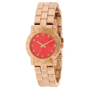 Marc by Marc Jacobs MBM3305 Amy Mini Orange Dial Rose Gold Tone