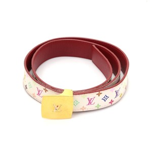 Louis Vuitton Louis Vuitton Ceinture Reversible White Multicolor Monogram Belt