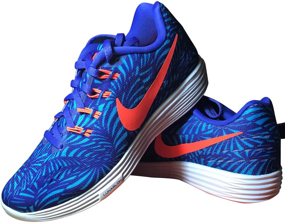online store 3626a f982a Nike Blue Women's Lunartempo 2 Print Sneakers Size US 5.5 Regular (M, B)  47% off retail