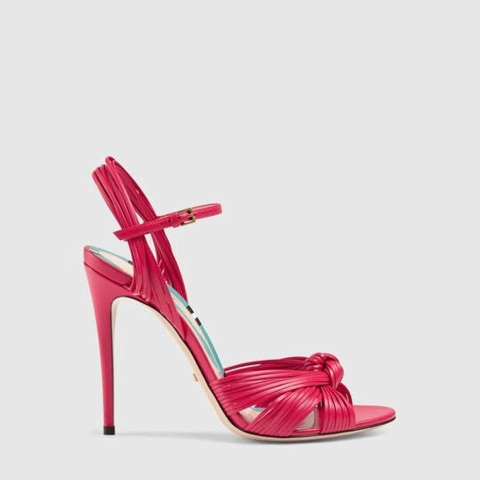ae40ced53b6 Gucci Allie Leather Knot Sandals Size EU 38.5 (Approx. US 8.5 ...