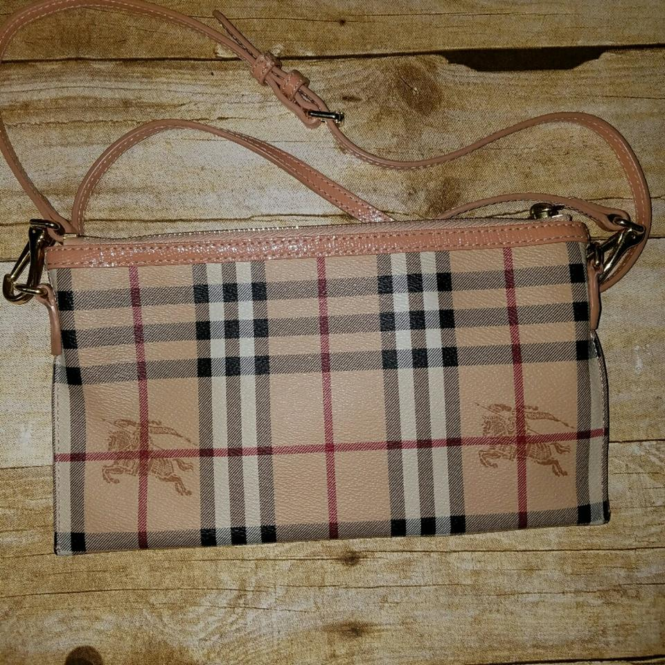 953e797d2aa0 Burberry Peyton Haymarket Wristlet Coral Pink Pvc Coated Canvas ...