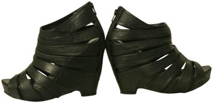 Crown Vintage Designer Strappy Black Platforms