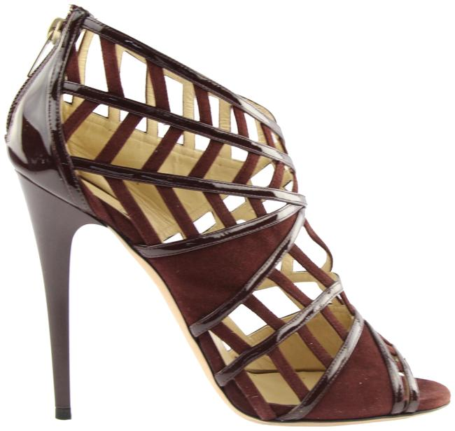 Item - Maroon Vector Strappy Peep-toe Formal Shoes Size US Regular (M, B)